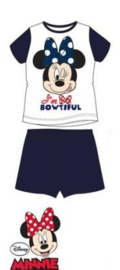 Minnie Mouse Shortama - Wit/Blauw
