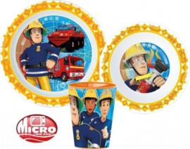 Brandweerman Sam Kinderservies - Magnetron