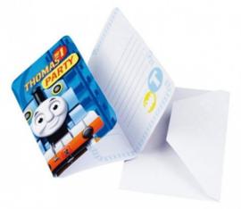 Thomas de Trein Uitnodigingen Kinderfeestje - 6 stuks