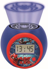 Spiderman Projectie Wekker met Timer - Marvel
