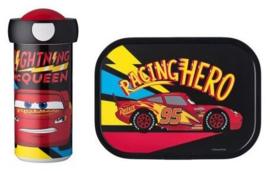 Disney Cars McQueen Lunchset: Broodtrommel met Schoolbeker - Mepal