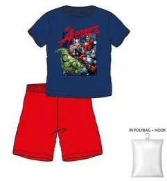 Avengers Shortama - Blauw/Rood