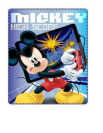 Mickey Mouse Fleece Deken - High Score