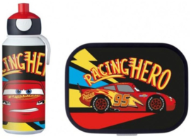 Disney Cars McQueen Lunchset: Broodtrommel met Pop-up Beker - Mepal