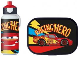 Disney Cars McQueen Lunchset: Broodtrommel met Pop-up Beker - Mepal