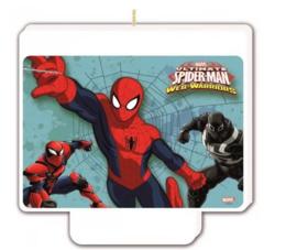 Spiderman Verjaardagstaart Kaars