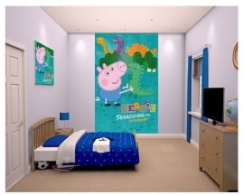 Peppa Pig Behangposter - Walltastic