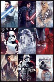 Star Wars The Last Jedi Characters - Maxi Poster