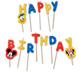 Mickey Mouse Verjaardagskaarsjes 'Happy Birthday'