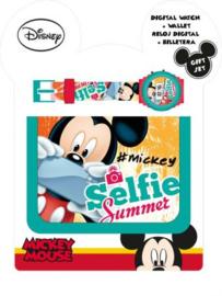 Mickey Mouse Giftset : Horloge met Portemonnee