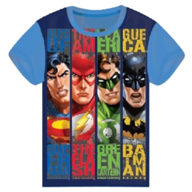 Justice League T-shirt - Licht Blauw