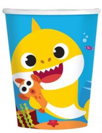 Baby Shark Feestbekertjes - 8 stuks