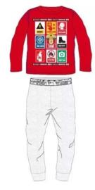 Brandweerman Sam Pyjama - Rood/Grijs