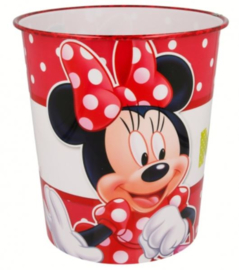 Minnie Mouse Prullenbak - Rood/Wit