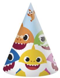 Baby Shark Feesthoedjes - 6 stuks