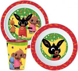 Bing Konijn Kinderservies met Beker - Magnetron