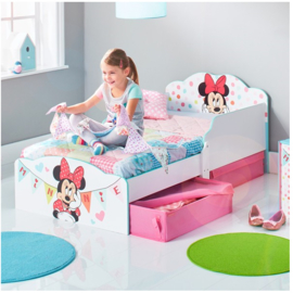 Minnie Mouse Peuterbed met lades - WorldsApart