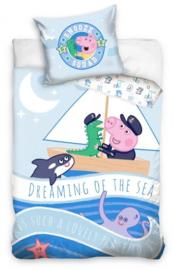 Peppa Pig Baby Dekbedovertrek 100 x 135 cm - George Sailing