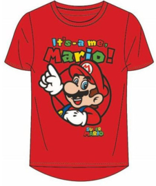 Super Mario T-shirt - Rood