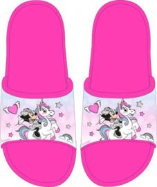 Minnie Mouse Badslippers Unicorn - Maat 25 t/m 32