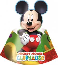 Mickey Mouse Feesthoedjes - 6 stuks