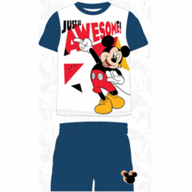 Mickey Mouse Shortama - Wit/Blauw