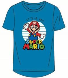 Super Mario T-shirt - Blauw