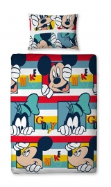Mickey Mouse Dekbedovertrek Cartoon 135 x 200 cm