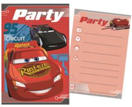 Disney Cars Uitnodigingen Kinderfeestje - 5 stuks