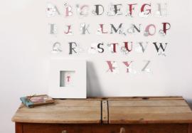 Winnie de Pooh Alfabet Stickers  - Decofun