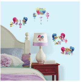 Shimmer and Shine Muurstickers Glitters - Roommates