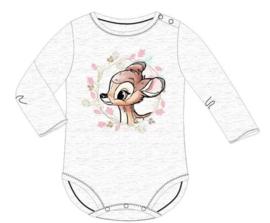 Bambi Rompertje Grijs Lange Mouw - Disney Baby