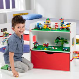 Lego ® Room2Build Boekenrek / Opbergrek / Nachtkastje - WorldsApart