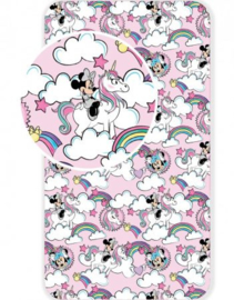 Minnie Mouse / Unicorn Hoeslaken 90x200 cm