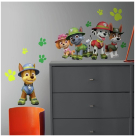 Paw Patrol Muursticker Jungle - RoomMates