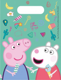 6 Peppa Pig Uitdeelzakjes