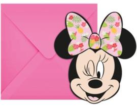 Minnie Mouse Uitnodigingen Kinderfeestje - 6 stuks
