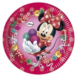 Minnie Mouse Feestbordjes / Gebaksbordjes - 8 stuks