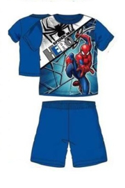 Spiderman Shortama - Blauw