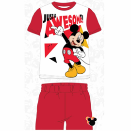 Mickey Mouse Shortama - Wit/Rood