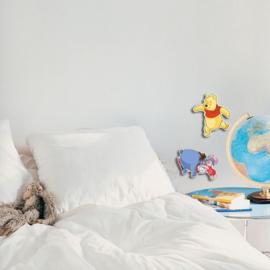 Winnie de Poeh Foam Muurstickers Pooh, Iejoor en Knorretje - Decofun