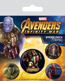 Avengers Buttons / Badges - 5 stuks