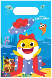 Baby Shark Uitdeelzakjes - 8 stuks