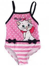 Marie Cat Zwempak / Badpak Stripe - Roze - Disney Baby
