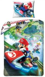 Super Mario Dekbedovertrek 140 x 200 cm - Kart