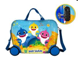 Baby Shark Kinderkoffer op Wielen ABS - Pinkfong