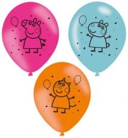 6 Peppa Pig Ballonnen