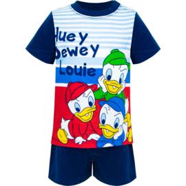 Donald Duck Baby Shortama Kwik, Kwek, Kwak - Donker Blauw