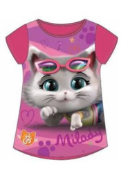 44 Cats T-shirt - Fuchsia