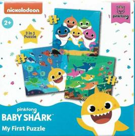 Baby Shark 3 in 1 Puzzel - 4/6/9 stukjes